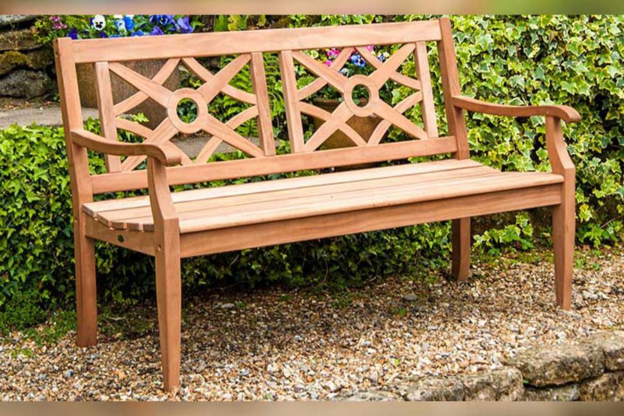 Alexander Rose Mahogany Heritage Garden Bench