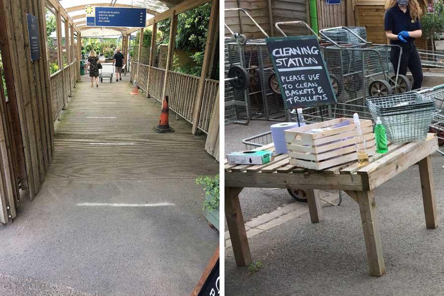 Covid-19 safety measures entering Oxford Garden Centre